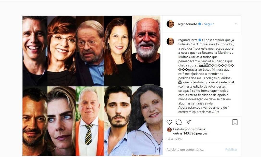 foto regina duarte instagram