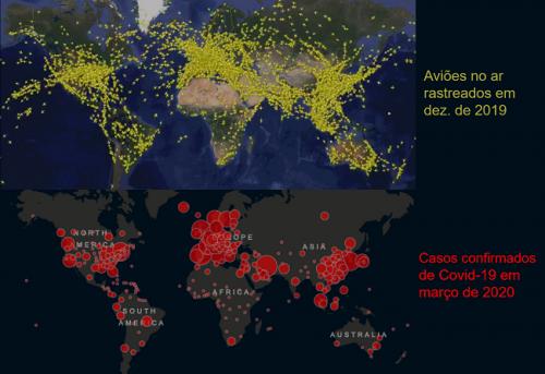 Aviões e coronavírus pelo mundo