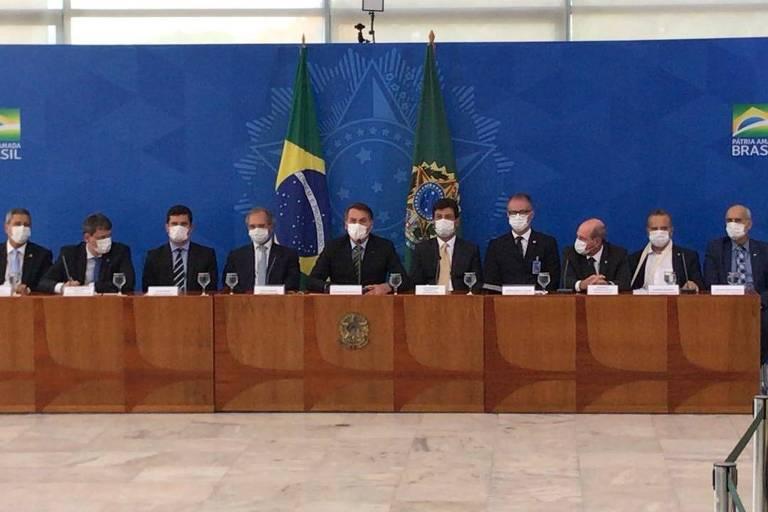 bolsonaro máscara ministros infectados