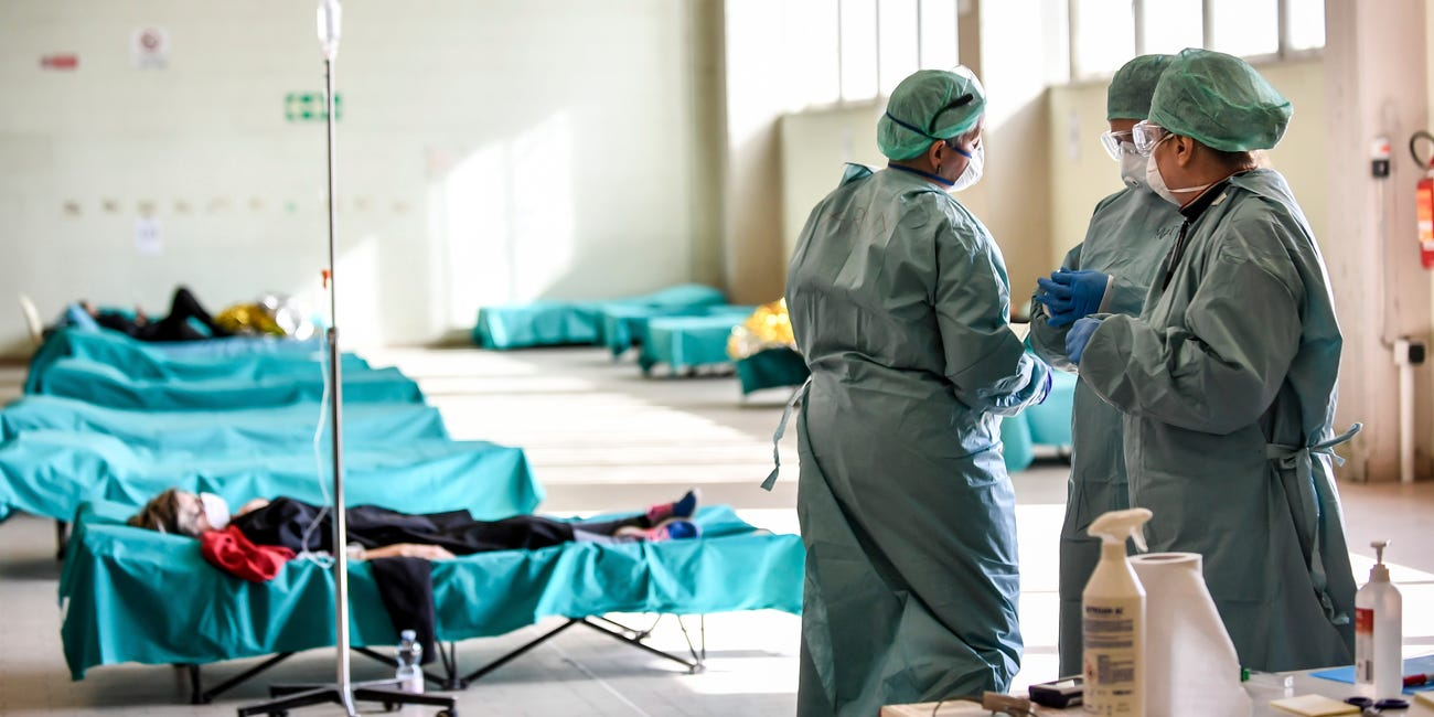 coronavirus hospital itália mortes