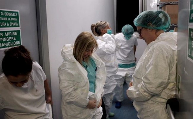 fotos relato enfermeiro italiano epicentro coronavírus