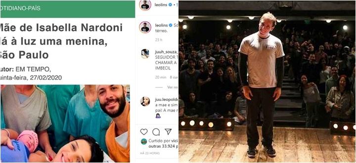 Leo Lins piada Isabella Nardoni