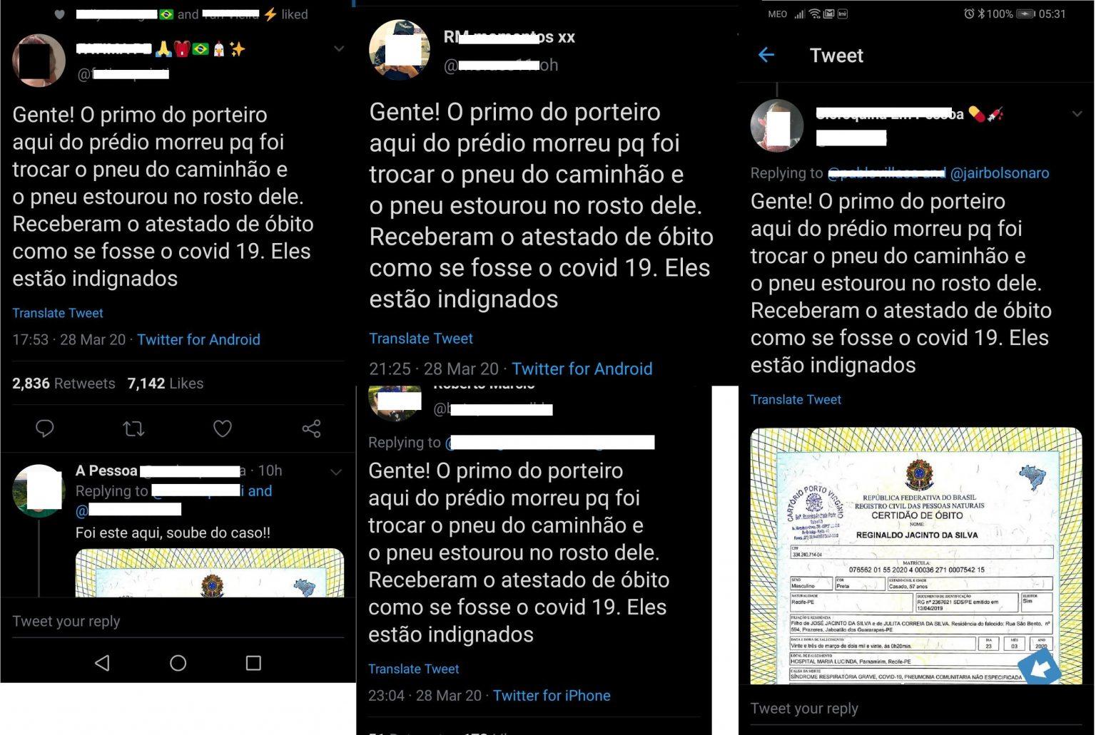 fake news porteiro coronavírus