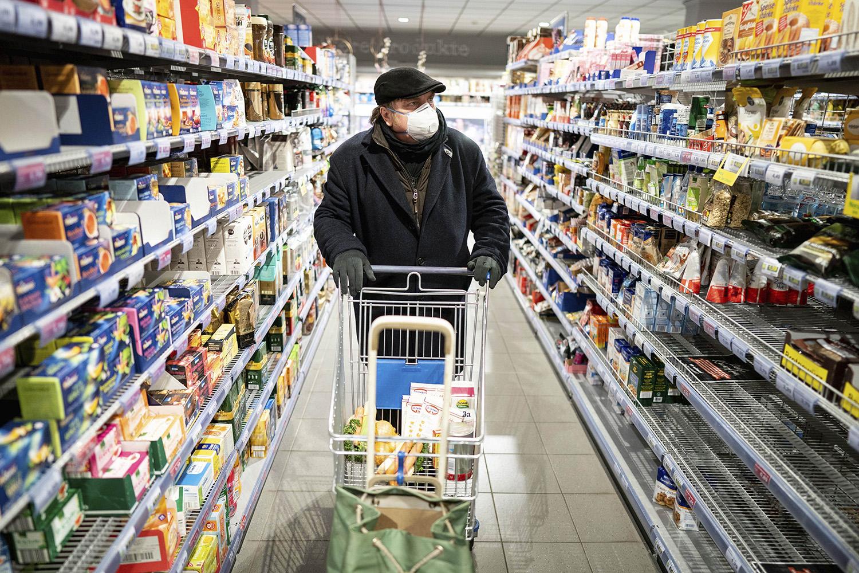 coronavírus supermercado