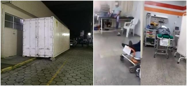 contêiner corpos hospital manaus