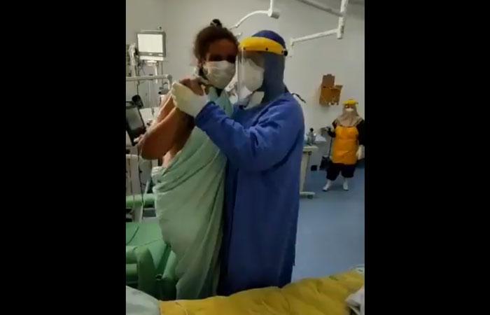 médico dança paciente asa branca