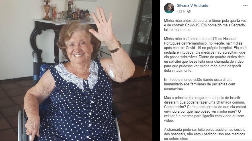 jornalista silvana andrade mãe
