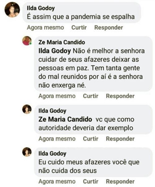 Vice-prefeito festão aniversário pandemia coronavírus