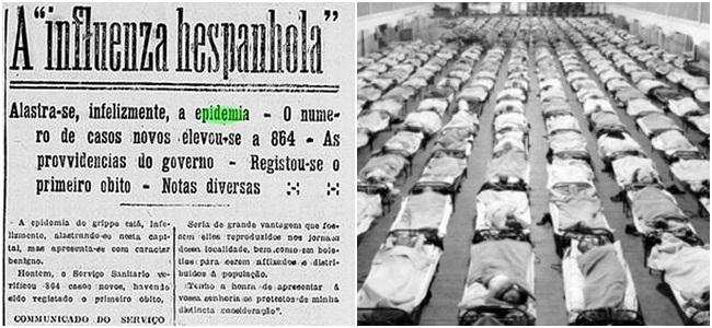 gripe espanhola brasil coronavírus