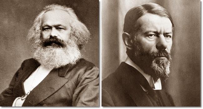 breve comentário Marx e Weber sistema capitalista economia