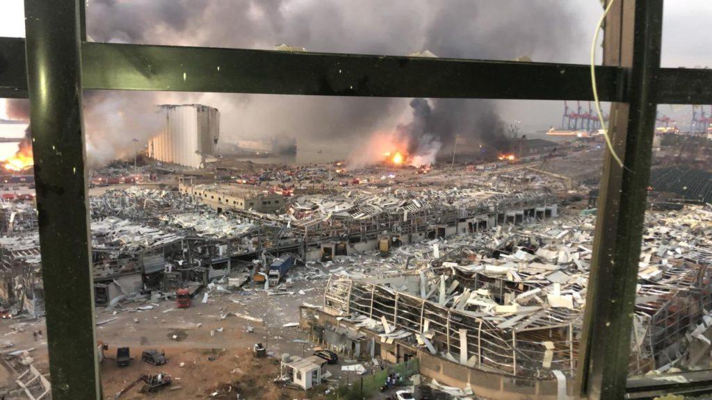 explosão no líbano míssil