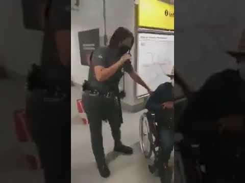 falso cadeirante metrô sp