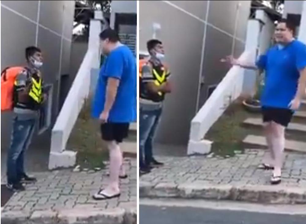 homem humilha entregador seu lixo