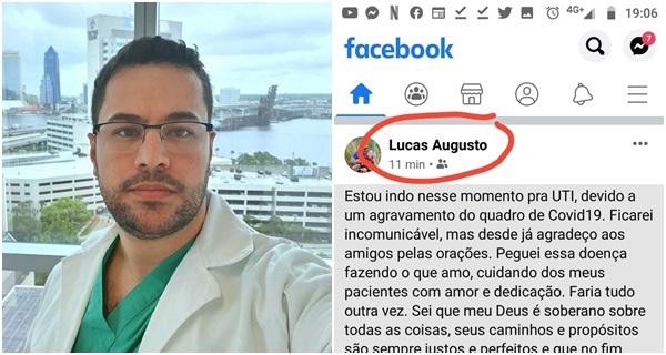 médico brasileiro despedida covid