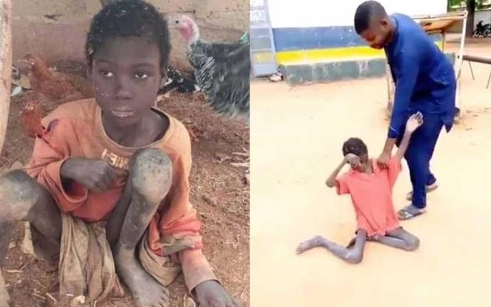 menino acorrentado nigéria
