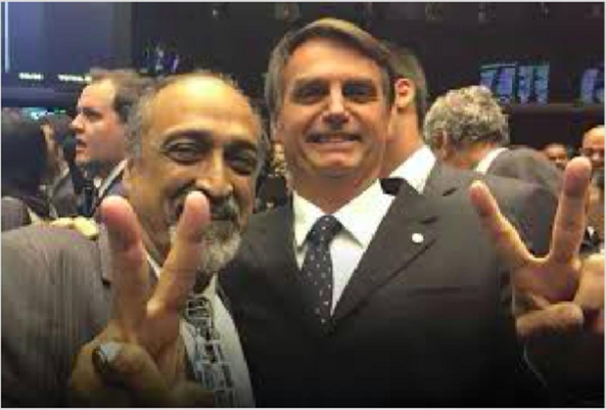 Ezequiel Cortaz e Jair Bolsonaro