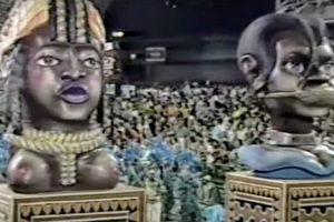 Desfile da Vila Isabel - Marques de Sapucaí, 1988. Foto: Reprodução