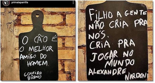 """Churrascaria multada cartazes com """"piadas"""" com Eliza Samudio Isabela Nardoni"""