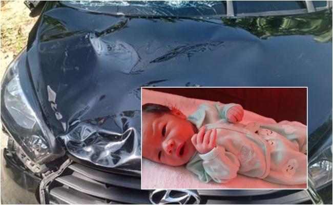 carro atropela mata bebê