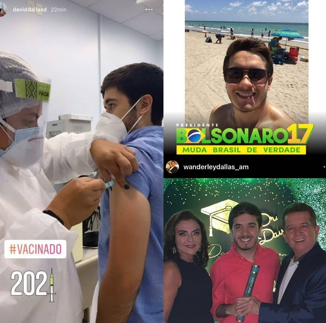David Dallas vacinado coronavírus Manaus