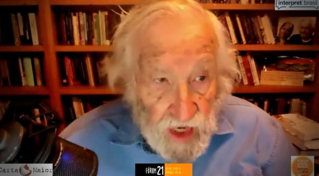 Chomsky Cultura de solidariedade necessária sobrevivência da espécie humana