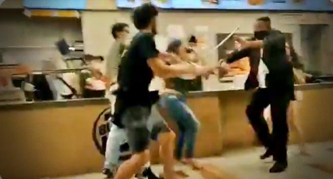 Funcionárias do Burger King são agredidas em quebra-pau generalizado