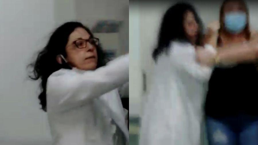 médica agride acompanhante hospital