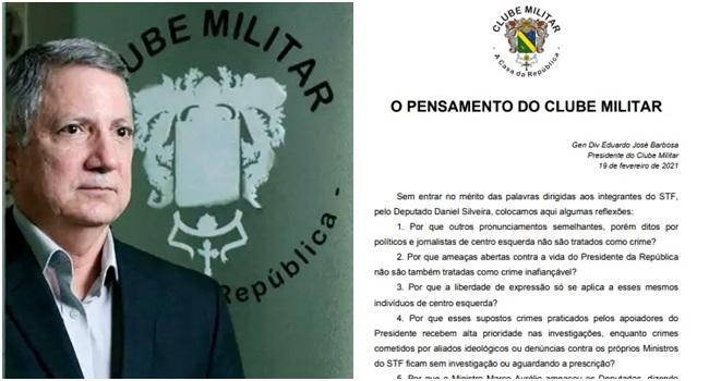 Nota clube militar brasileiro tem saudade ditadura reações
