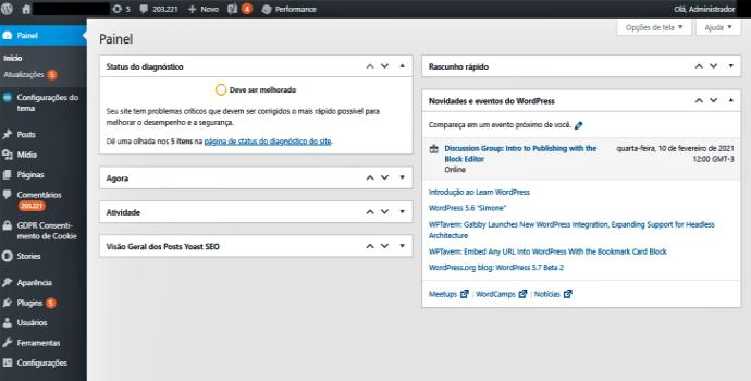 SEO Title hospedagem WordPress como melhorar site blog página tecnologia