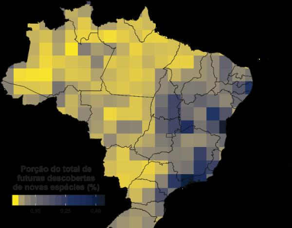 Brasil maior quantidade Animais desconhecidos mundo