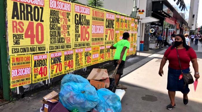 Campanha Bolsocaro ruas são paulo redes sociais ativistas anonimato preço alimentação gás de cozinha gasolina