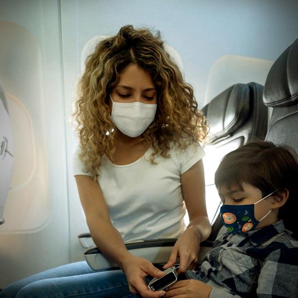 dicas viajar de avião filhos durante a pandemia