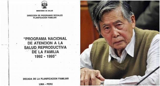 Fujimori julgado esterilizações forçadas de mulheres pobres Peru