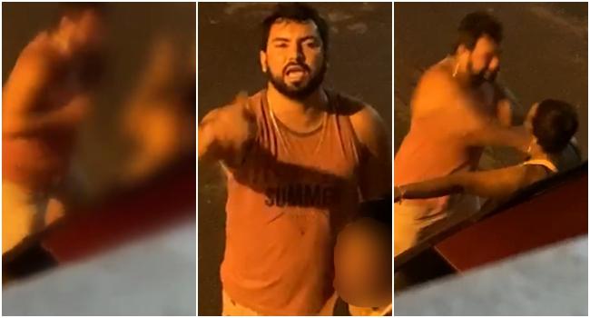 Homem filmado espancando mulher preso mais uma vez