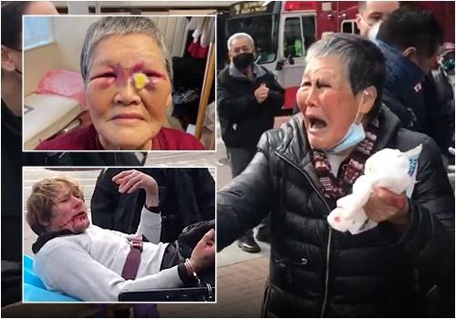 idosa chinesa agredida eua