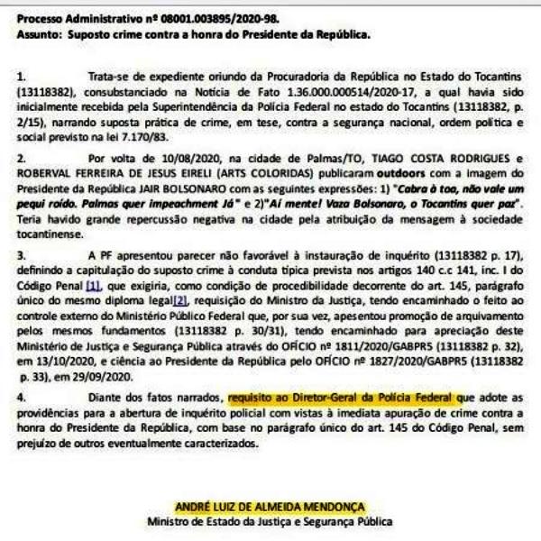 Polícia Federal investiga sociólogo que comparou Bolsonaro pequi roído