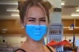 influenciadora-presa-pintura-mascara-contra-a-covid-19