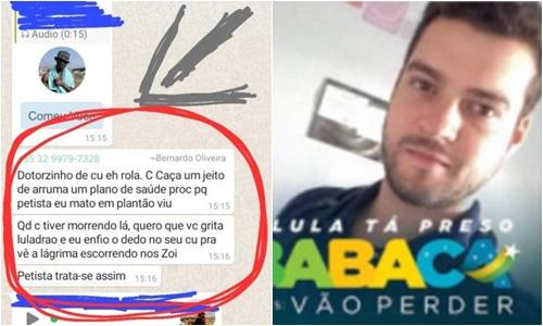 o médico bolsonarista Bernardo Pinto de Oliveira Souza