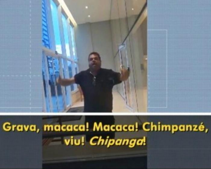 Morador ataque racista porteira Macaca Chimpanzé Desgraça Goiás
