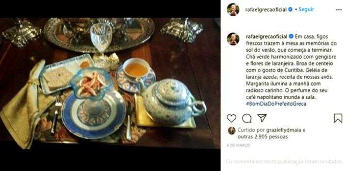 Prefeito de Curitiba foto mesa farta proibir doação de comida pobres