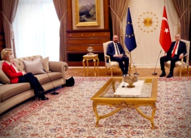 ursula sofagate papel mulher política internacional europa Turquia
