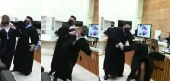 advogado agride tribunal juri