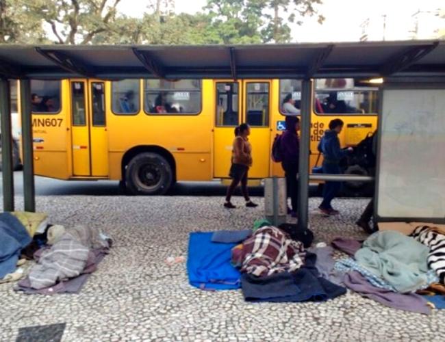 covid Vacina já população situação de rua de Curitiba