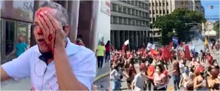manifestantes anti-bolsonaro recife