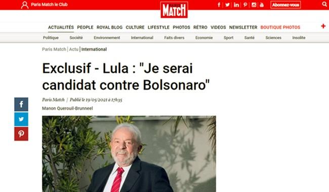 Lula admite primeira vez será candidato