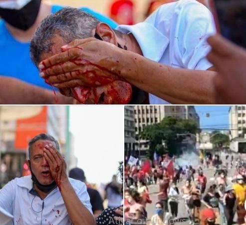 manifestantes pm recife bolsonaro
