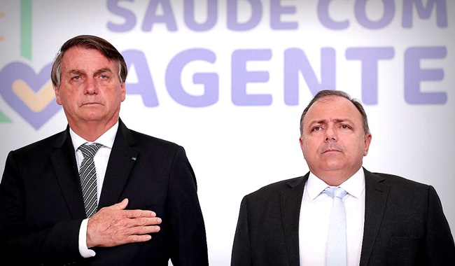 Bolsonaro Eduardo Pazuello tremia cpi covid coronavírus