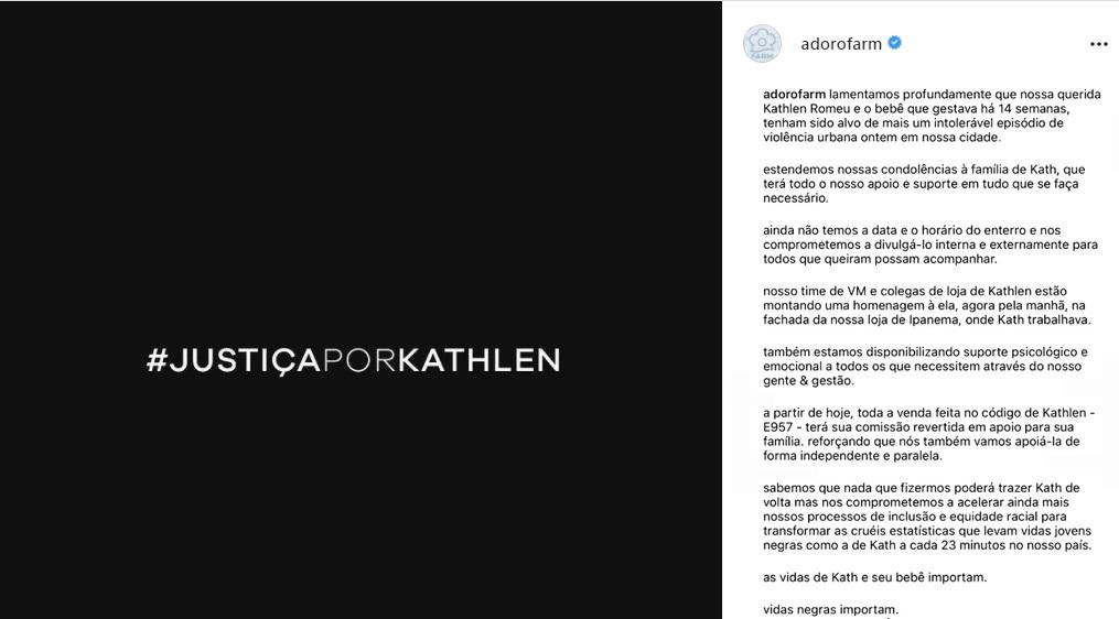 Farm campanha publicitária Kathlen Romeu detonada redes