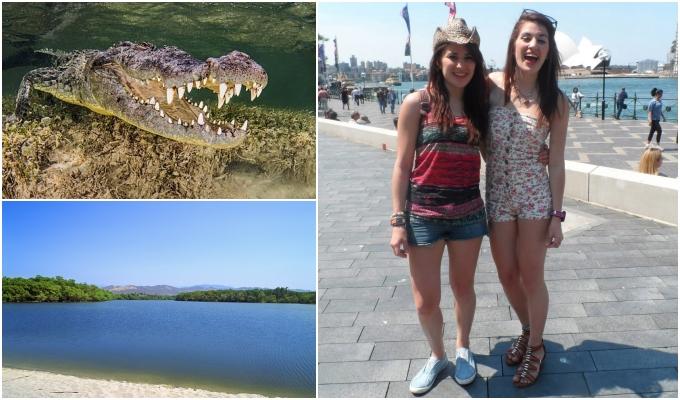 Jovem luta crocodilo salvar irmã gêmea ataque violento