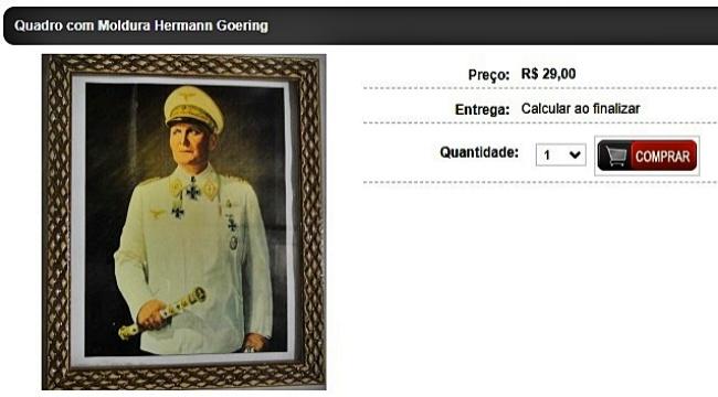 Loja Santa Catarina vende produtos nazistas busto Hitler
